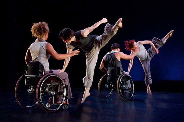 AXIS Dance Company performing choreography by Sonya Delwaid. (Photo from axisdance.org)